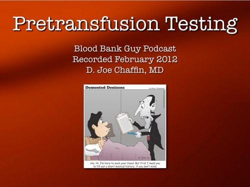 Pretransfusion Testing Cover