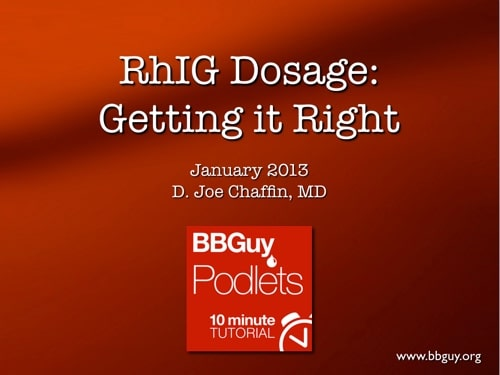 Rh Immune Globulin dose cover