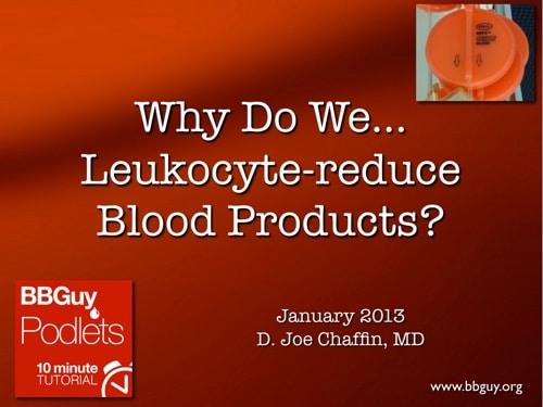 Leukoreduction cover