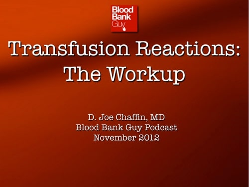 Transfusion Reactions 1 Cover