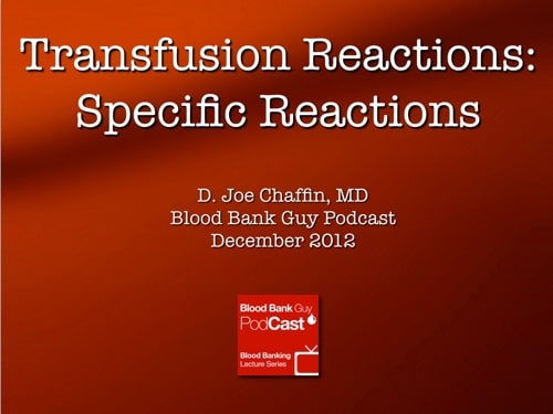 Transfusion Reactions 2 Cover