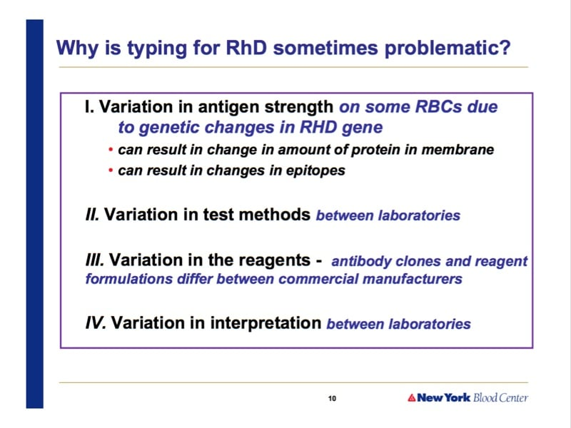 Westhoff slide 2-RhD problems