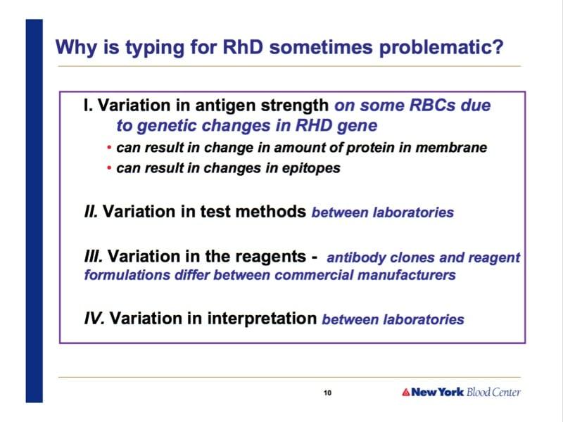 Westhoff slide 2-RhD problems