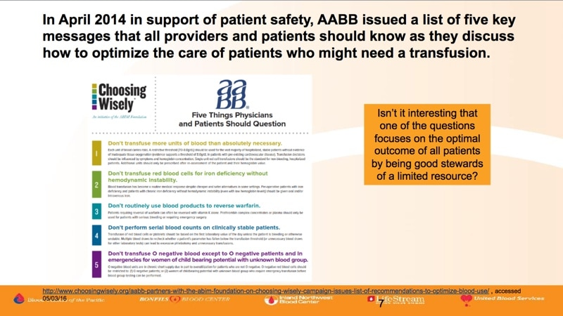 Land slide 4 - AABB Choosing Wisely