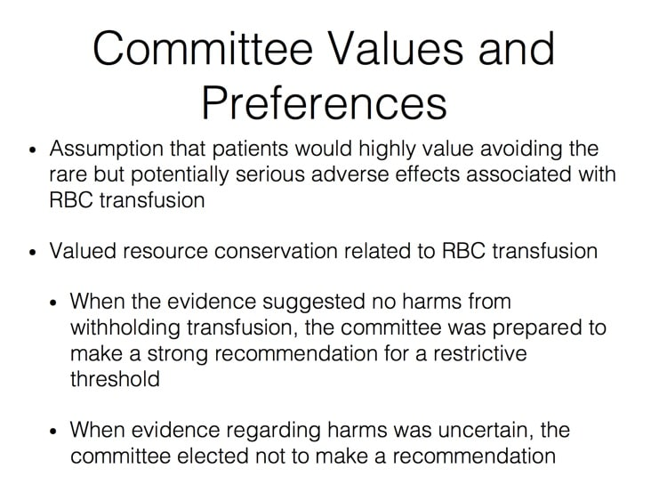 Carson Slide 1 - Values and Preferences for Committee