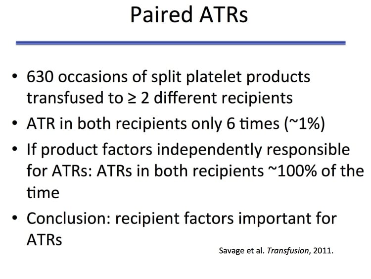 Savage Slide 6 - What happens when the other part of a product that gave an ATR goes to a DIFFERENT patient? Not much!