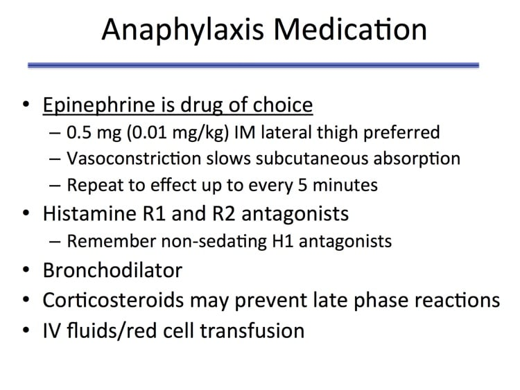 Savage Slide 8 - How to treat anaphylaxis associated with blood transfusion