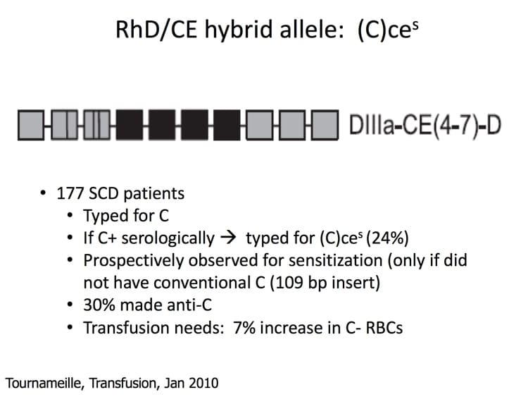 Delaney Slide 8 - RhD/CE hybrid allele