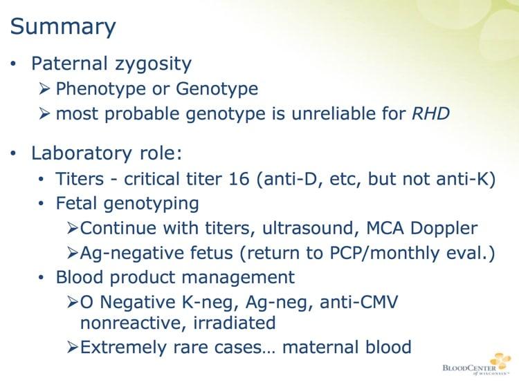 Denomme Slide 10 - HDFN summary