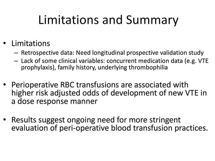 Slide 3 - Study limitations and summary of results