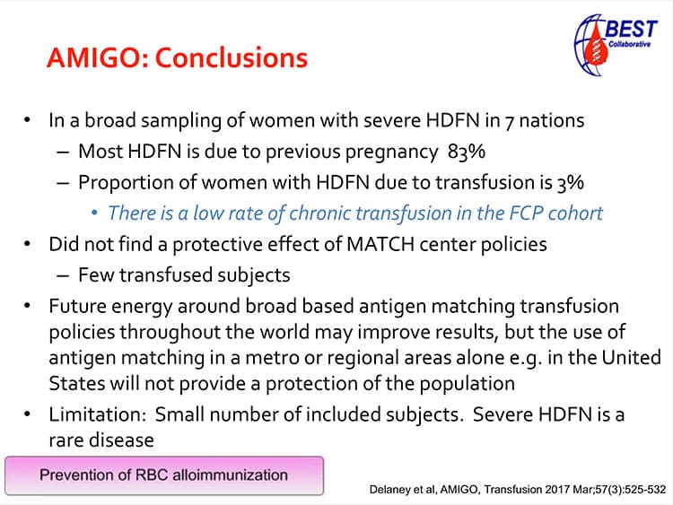 Slide 4 - AMIGO conclusions (more work to do, but pregnancy is main immunizing event)