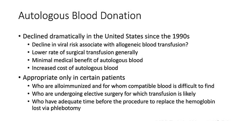 Slide 2 - Details about Autologous Donation