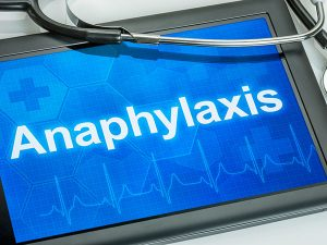 Anaphylaxis on a tablet